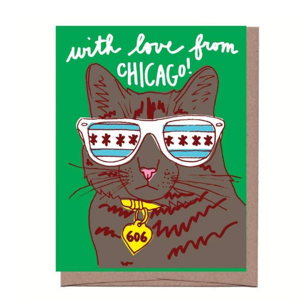 Cool Chicago Cat Boxed Stationery - All She Wrote