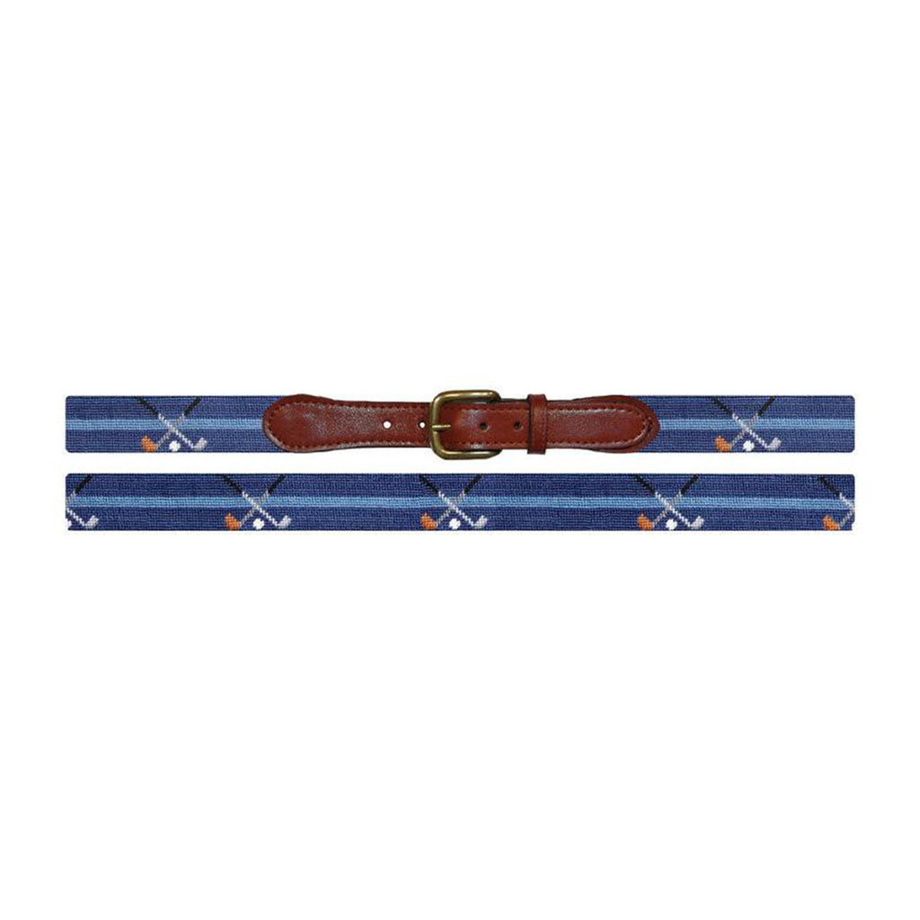 Crossed Clubs Needlepoint Belt - All She Wrote