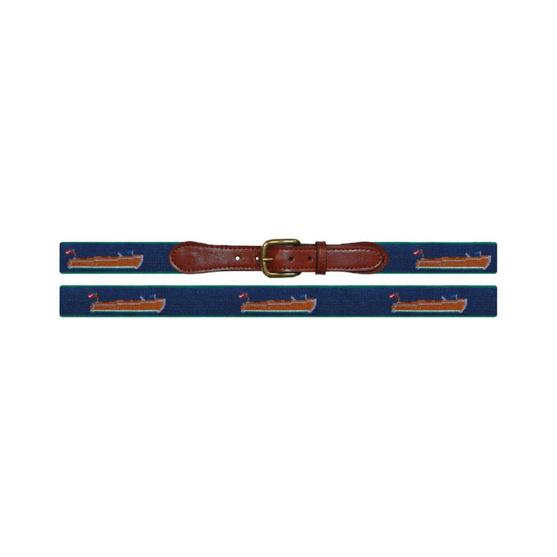 Wooden Boat Needlepoint Belt - All She Wrote