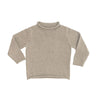 Gray Cotton Rollneck Sweater - All She Wrote