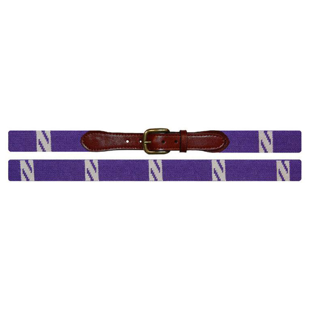 Northwestern Needlepoint Belt - All She Wrote