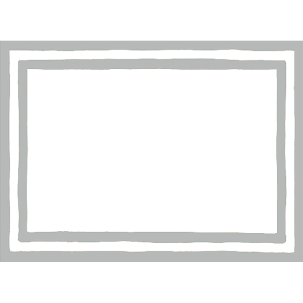 Silver Stripe Border Labels - All She Wrote