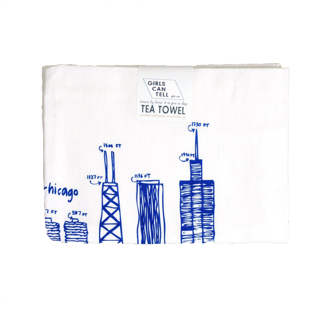 Chicago Buildings Tea Towel - All She Wrote