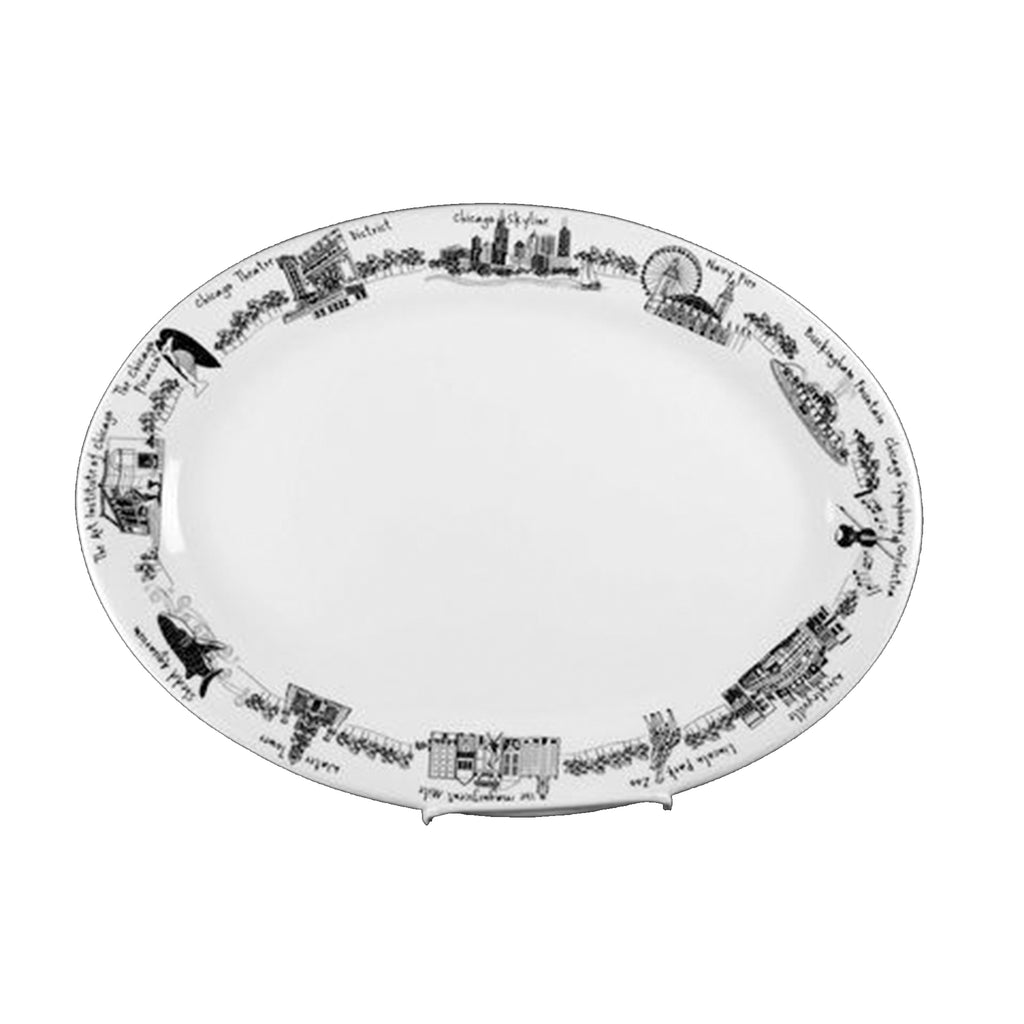 Chicago Oval Platter - All She Wrote