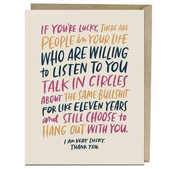 Talk In Circles Card - All She Wrote