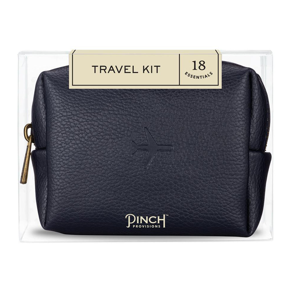 Navy Leather Travel Kit - All She Wrote