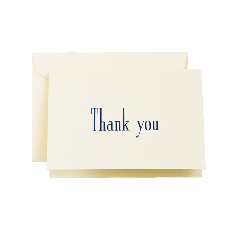 Navy Thank You Boxed Stationery - All She Wrote