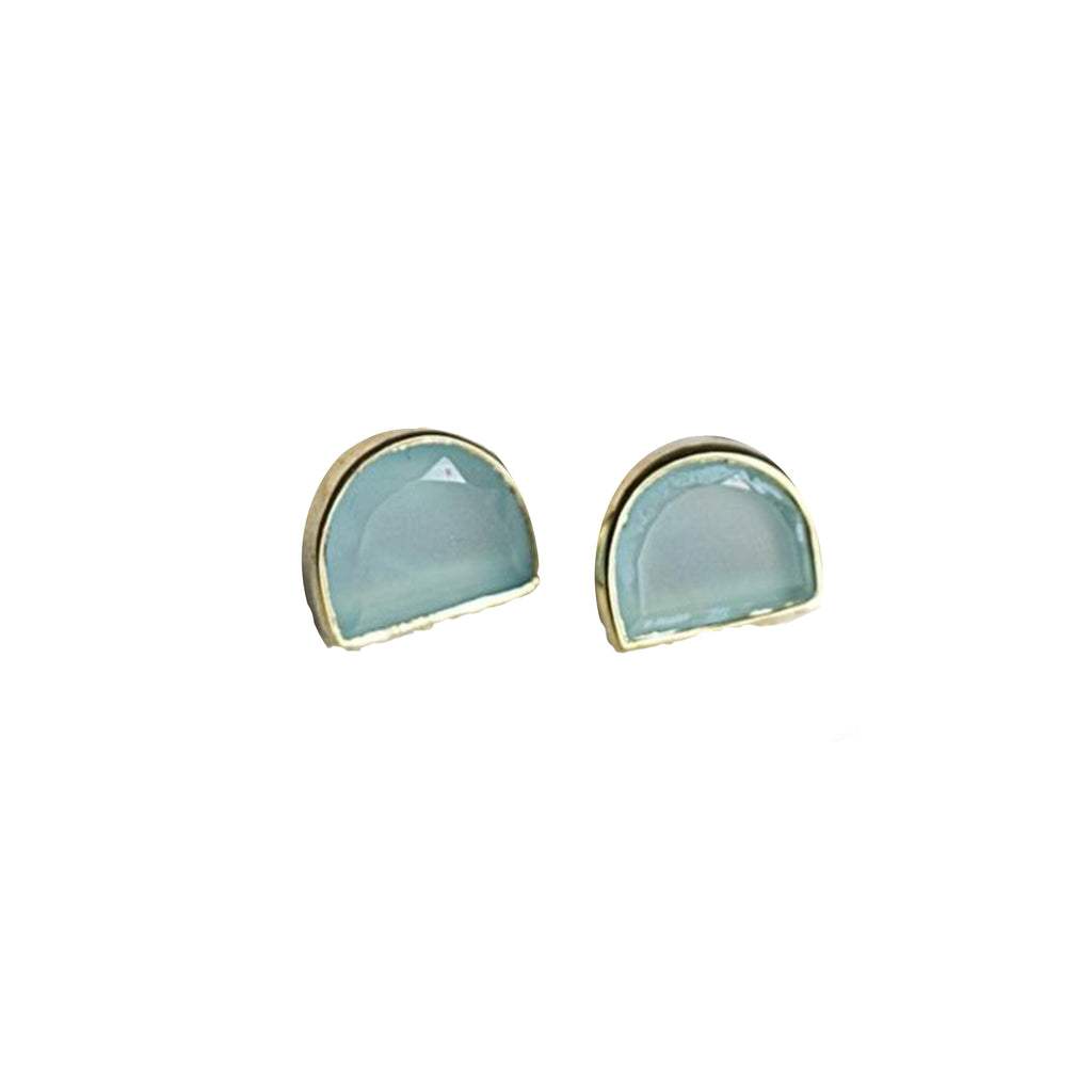 Half Moon Bay Stud Earring - All She Wrote