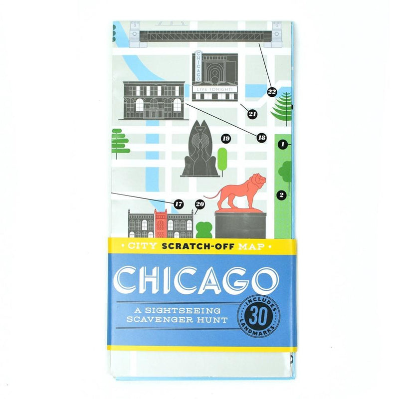 Chicago Scratch-Off Map - All She Wrote