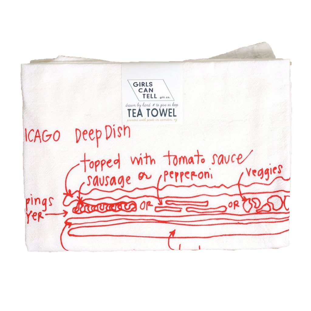 Chicago Deep Dish Pizza Tea Towel - All She Wrote