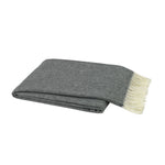 Charcoal Italian Herringbone Throw - All She Wrote