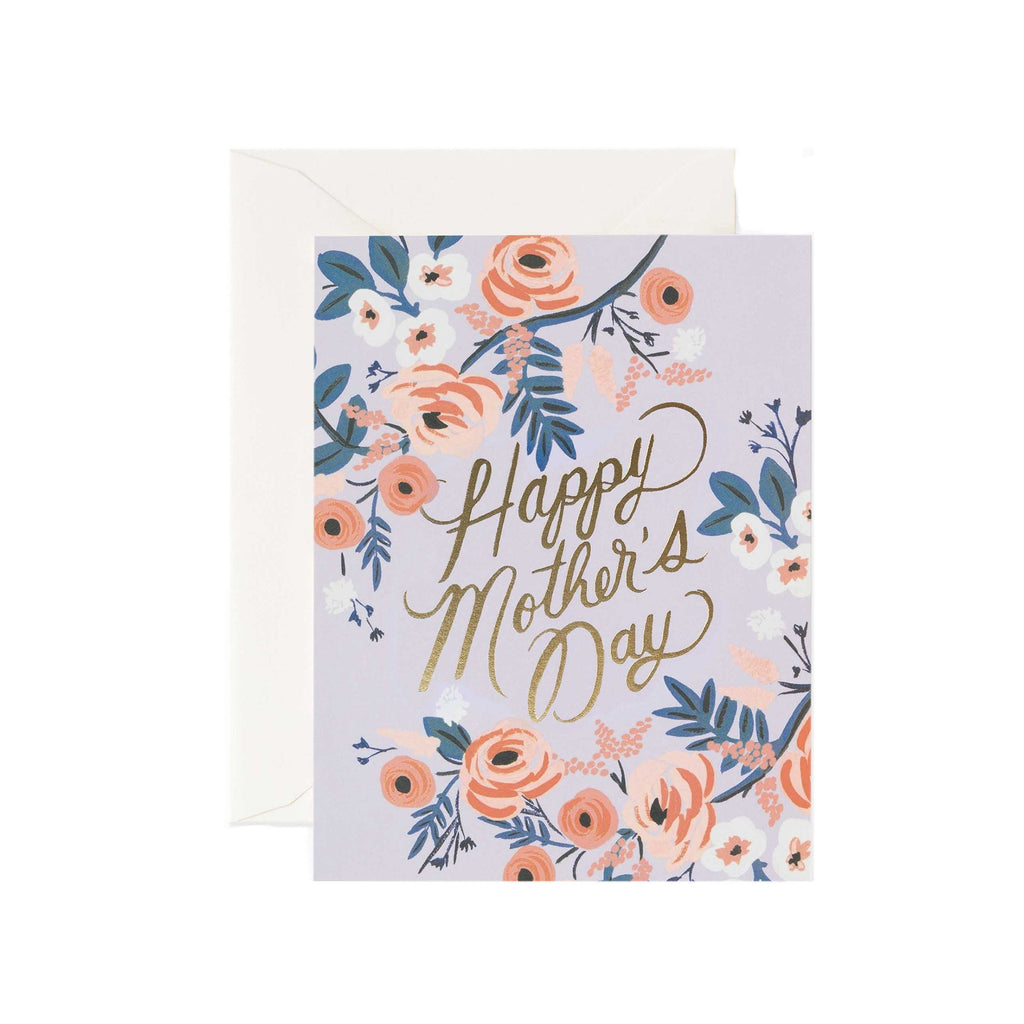 Rosy Mother's Day Card - All She Wrote