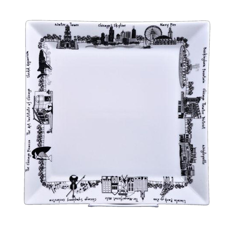 Large Square Chicago Plate - All She Wrote