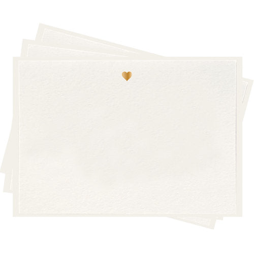 Gold Heart Boxed Stationery - All She Wrote