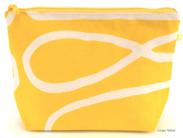 Yellow Loopy Travel Pouch - All She Wrote