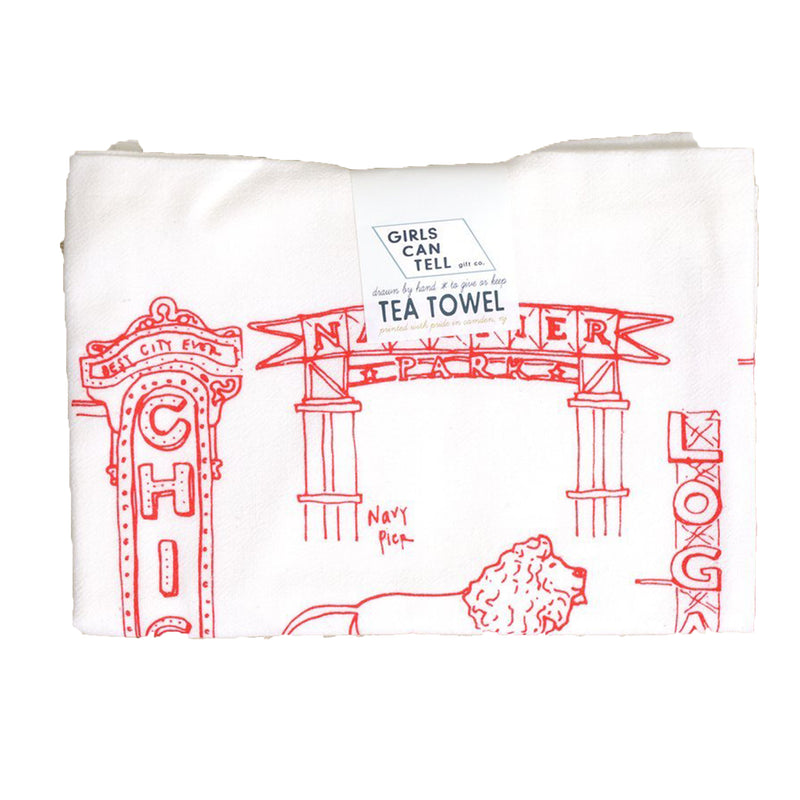 Chicago Landmarks Tea Towel - All She Wrote