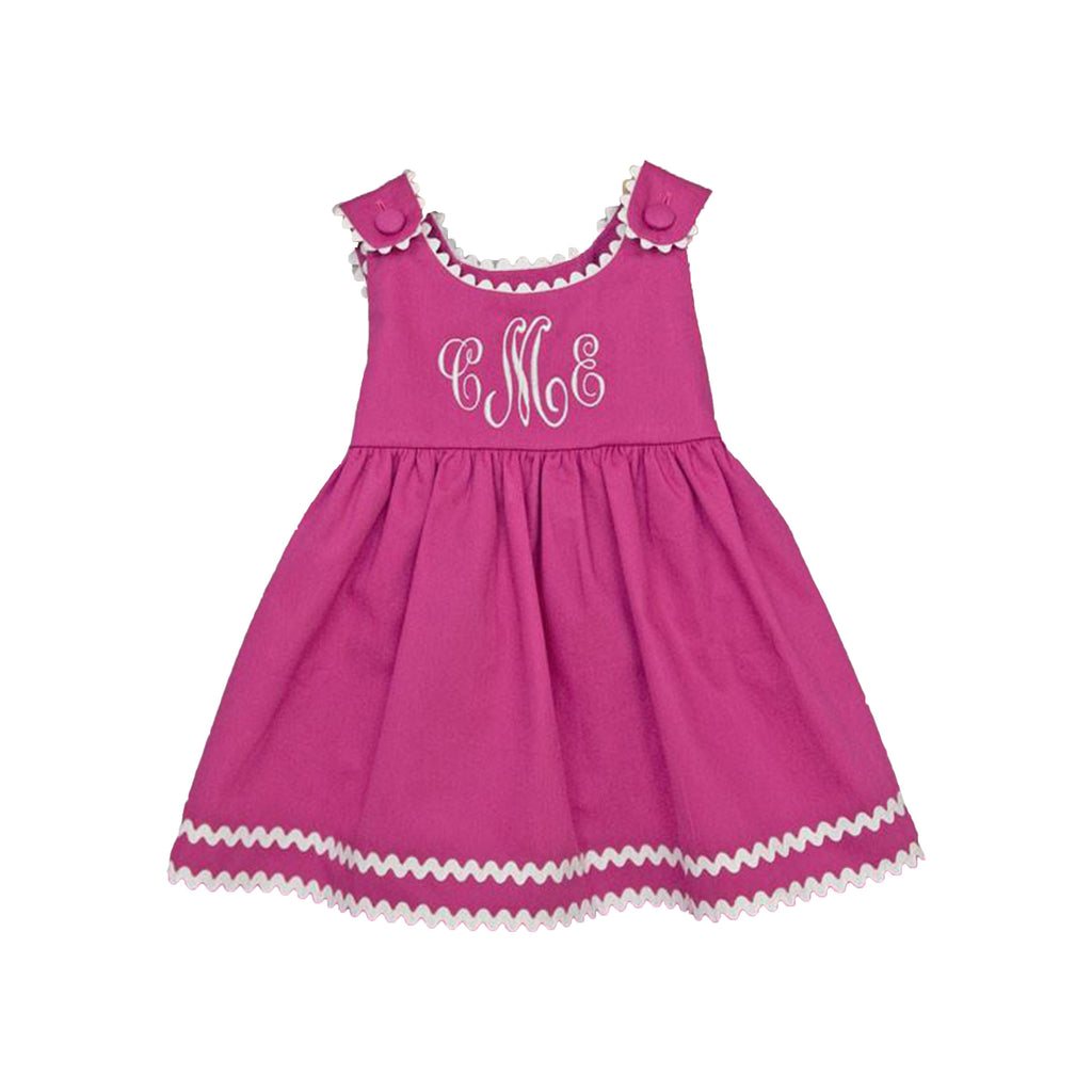 Hot Pink & White Trim Pique Dress - All She Wrote