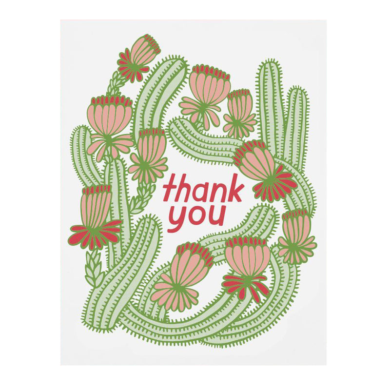 Cactus Thank You Card - All She Wrote