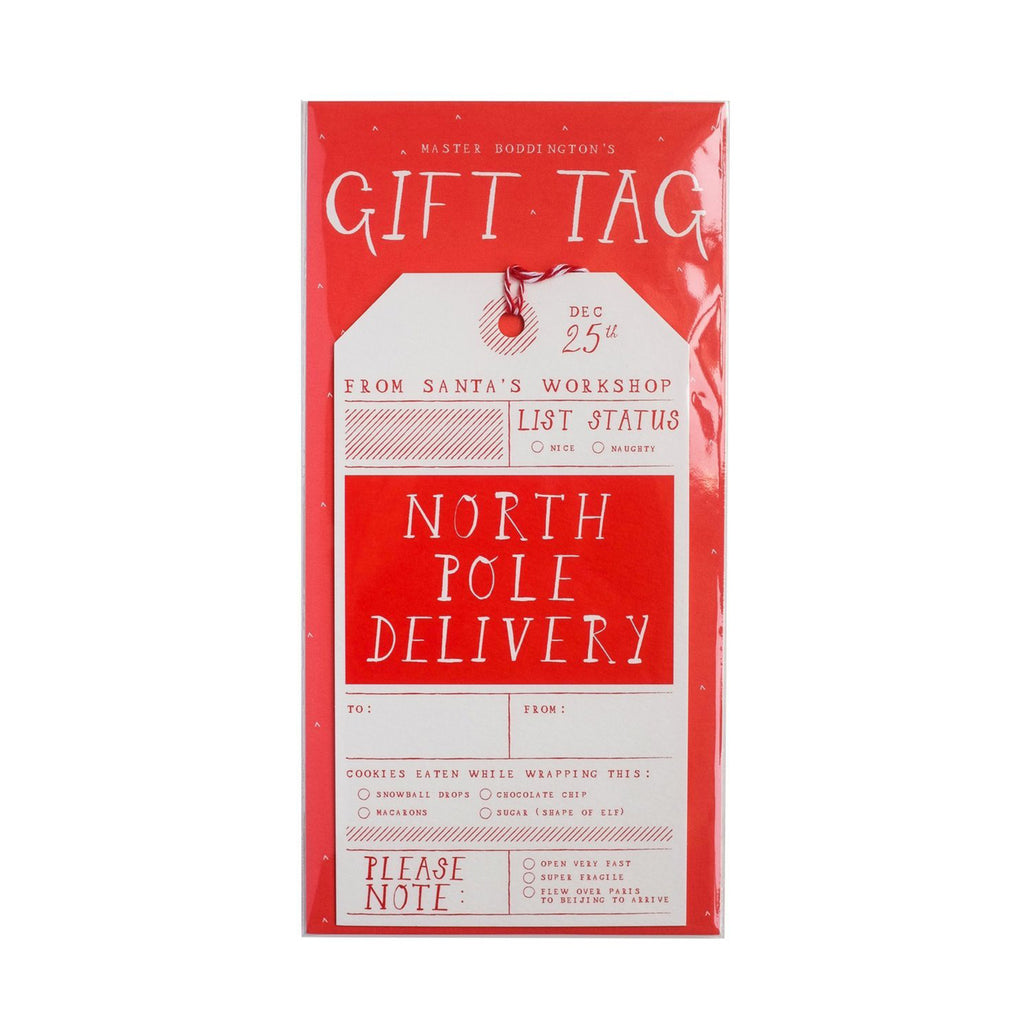 North Pole Gift Tag - All She Wrote