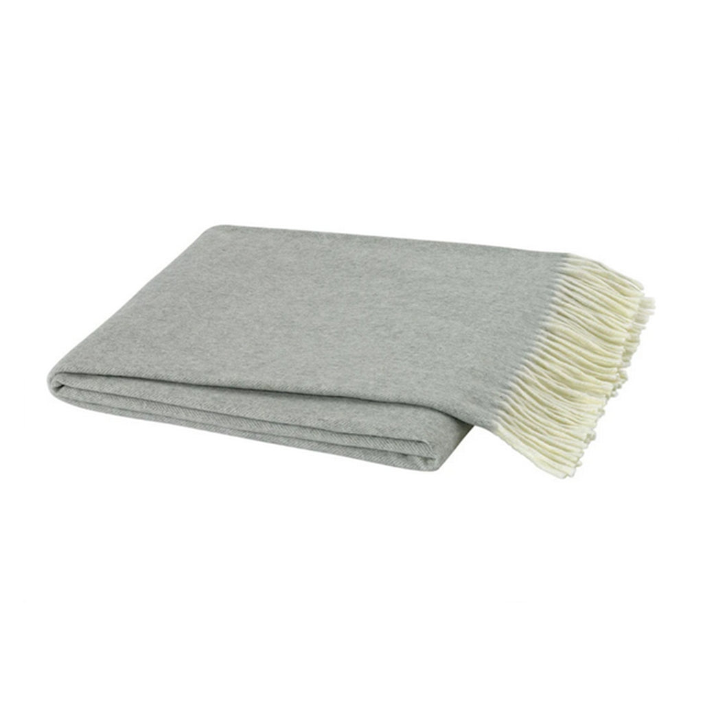 Light Gray Italian Herringbone Throw - All She Wrote