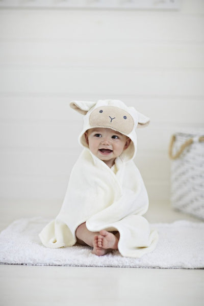 Baby Bath Wrap- Lamb - All She Wrote