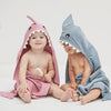 Slate Shark Baby Bath Wrap