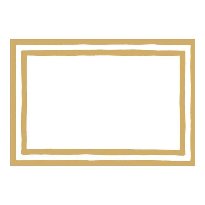 Gold Stripe Border Place Cards