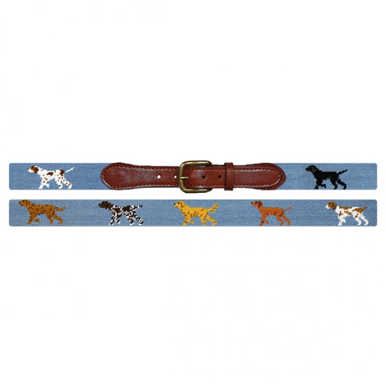 Smathers & Branson Needlepoint Belt- Dogs on Point - All She Wrote