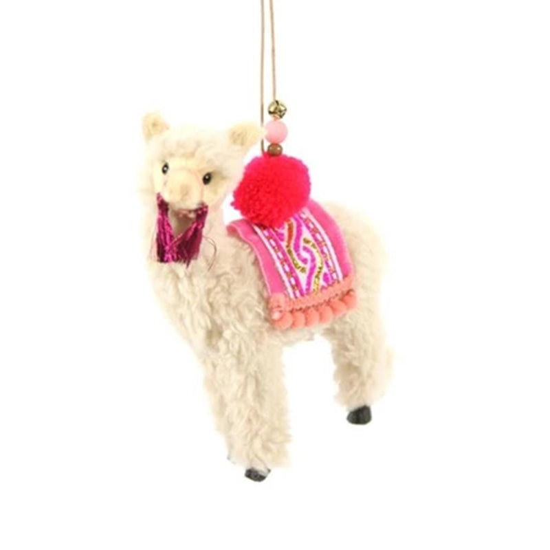 Festive Alpaca Ornament - All She Wrote