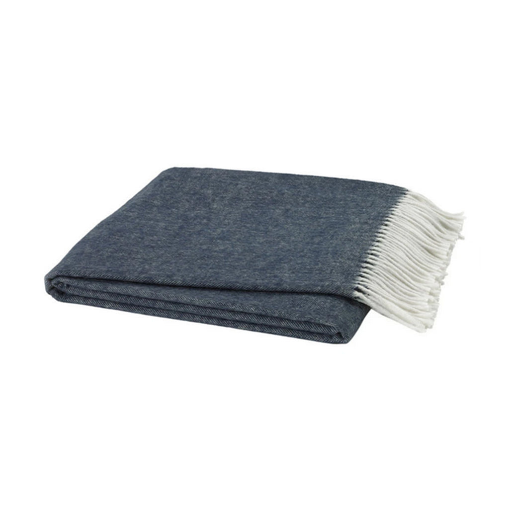 Navy Italian Herringbone Throw - All She Wrote