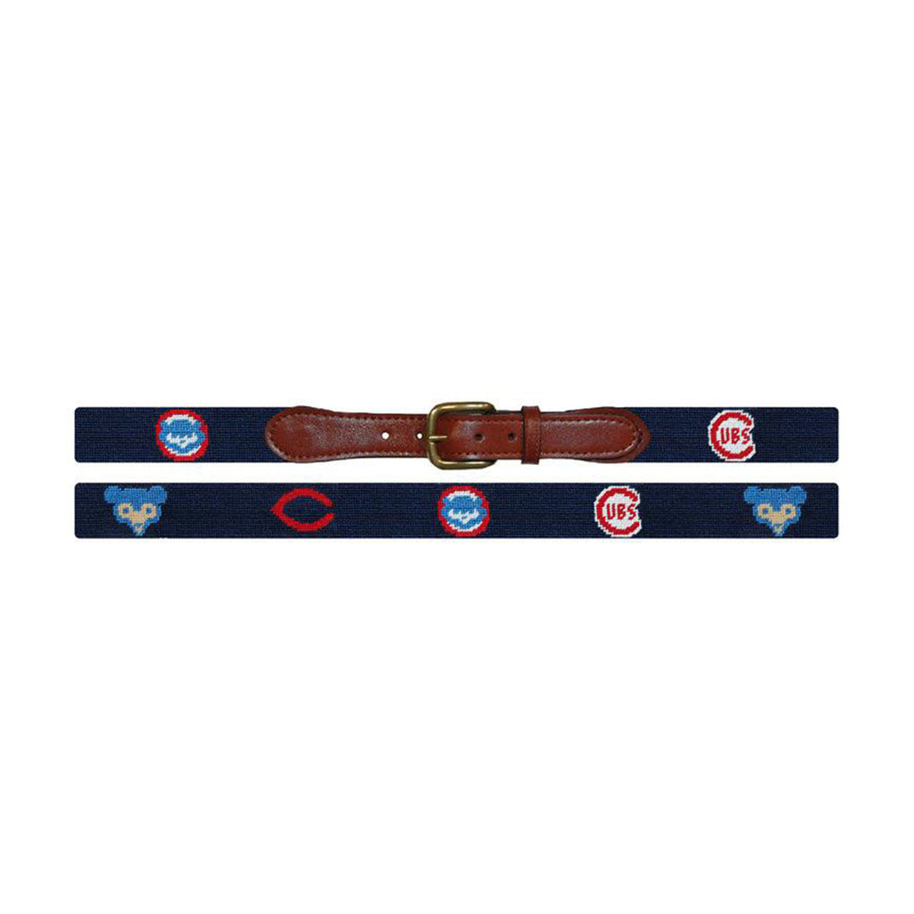 Chicago Cubs Cooperstown Needlepoint Belt - All She Wrote