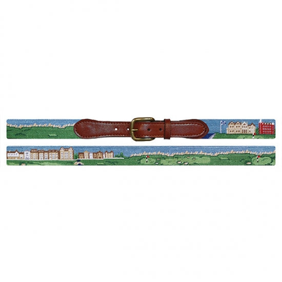 St. Andrews Scene Needlepoint Belt - All She Wrote