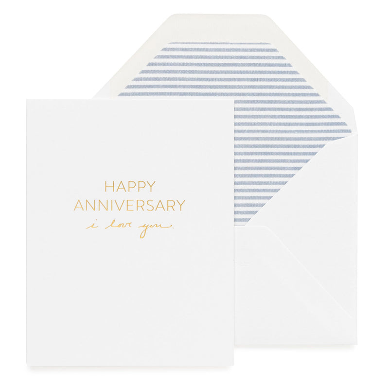 I Love You Anniversary Card - All She Wrote