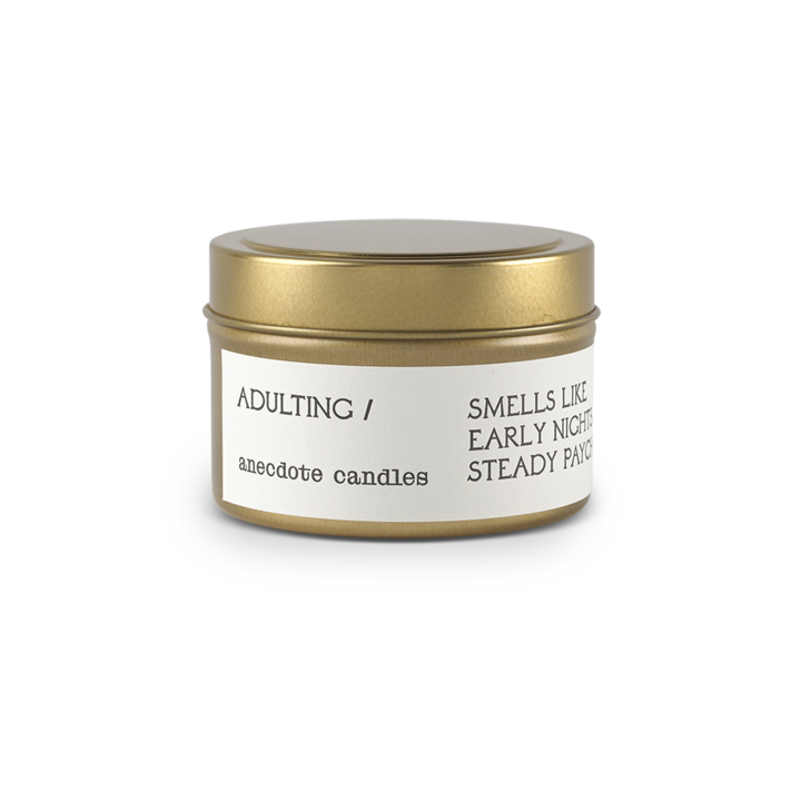 Adulting Travel Tin Candle - All She Wrote