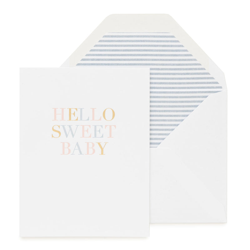 Hello Sweet Baby Card - All She Wrote