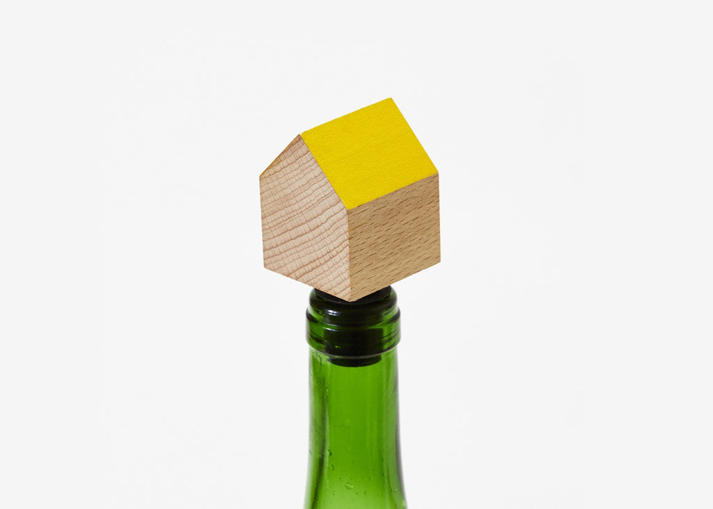 Yellow Bottle House Stopper - All She Wrote