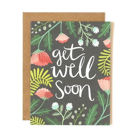 Get Well Floral Card - All She Wrote