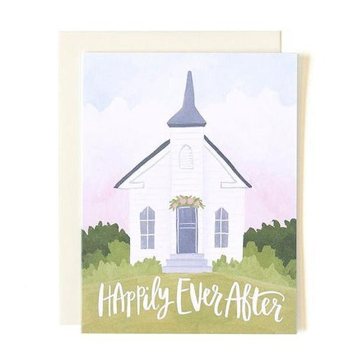 Wedding Chapel Card - All She Wrote