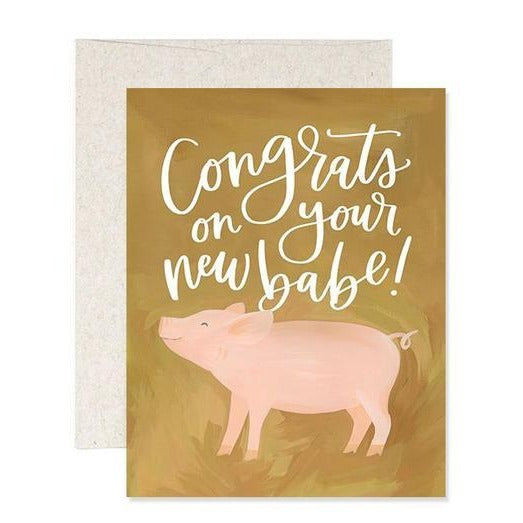 New Babe Baby Card - All She Wrote