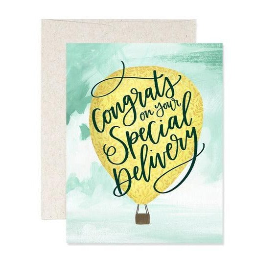 Special Delivery Baby Card - All She Wrote