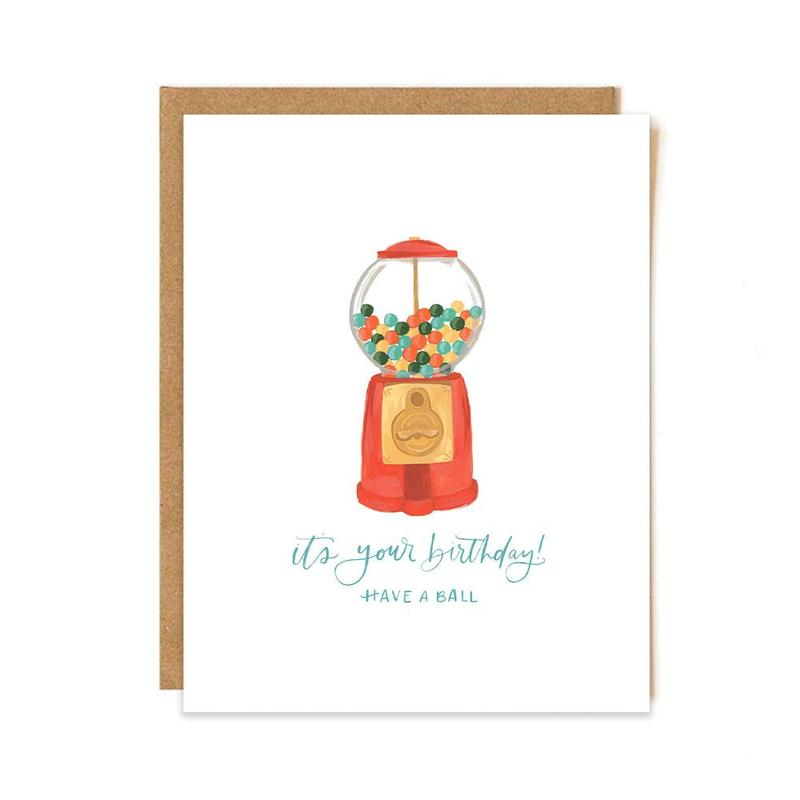 Gumball Birthday Card - All She Wrote