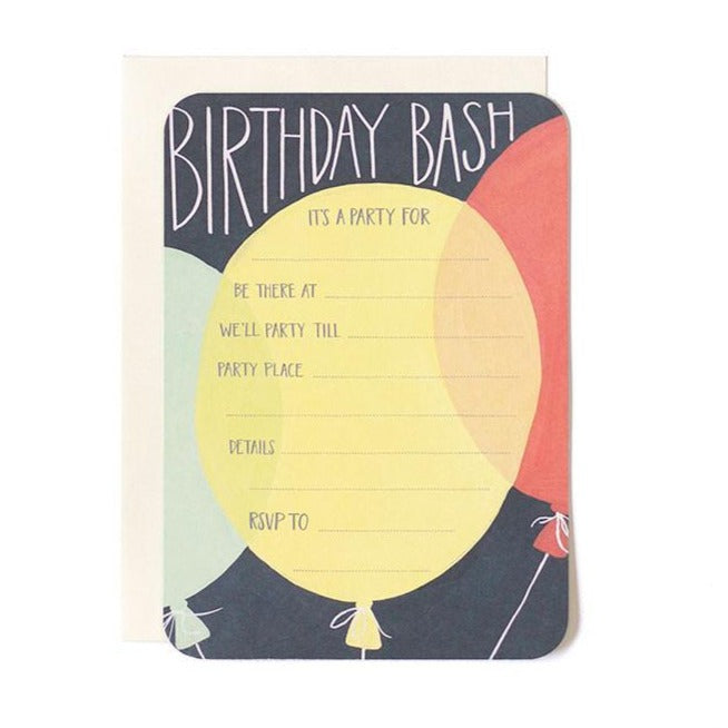 Birthday Bash Fill In Invitation - All She Wrote