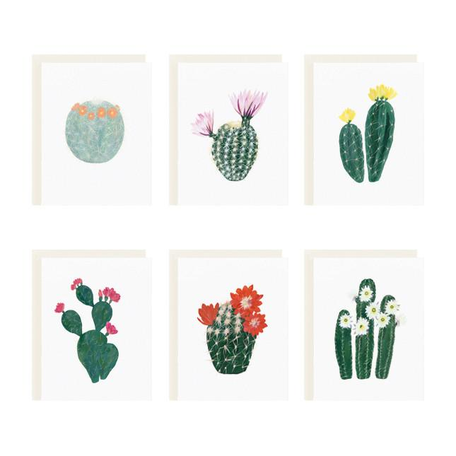 Flowering Cacti Boxed Stationery - All She Wrote