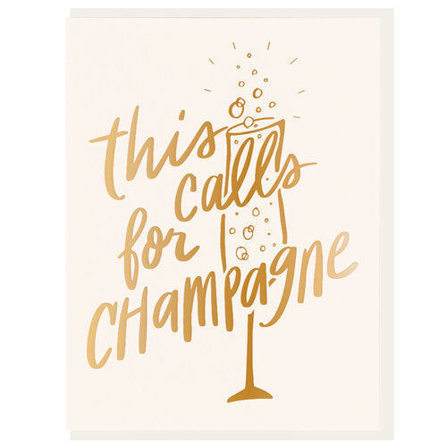 Calls For Champagne Card - All She Wrote