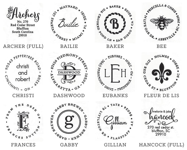 Personalized Stamp - Circle