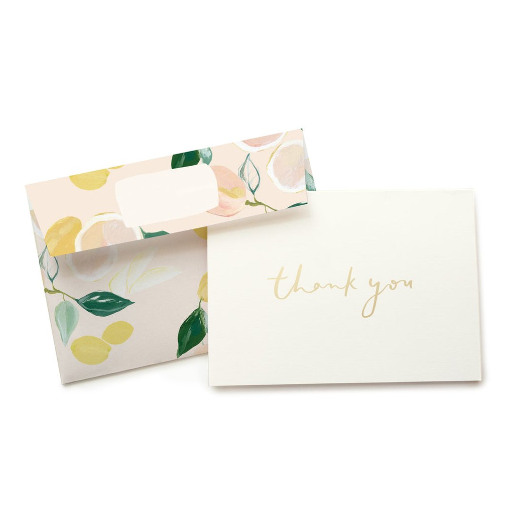 Citrus Boxed Stationery - All She Wrote