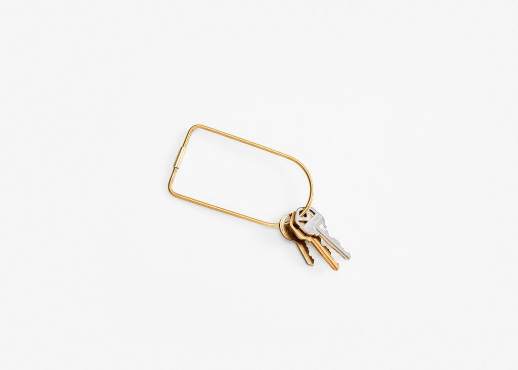 Brass Bend Key Ring