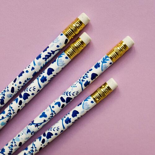 Hydrangea Garden Pencil Set - All She Wrote