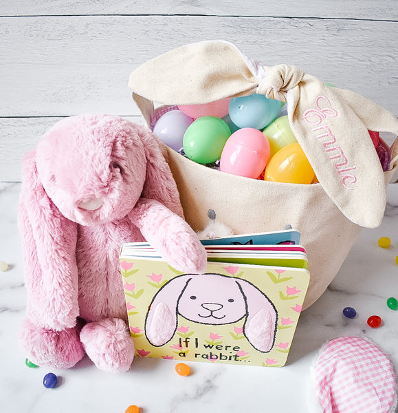 Large Pink Easter Basket Bundle