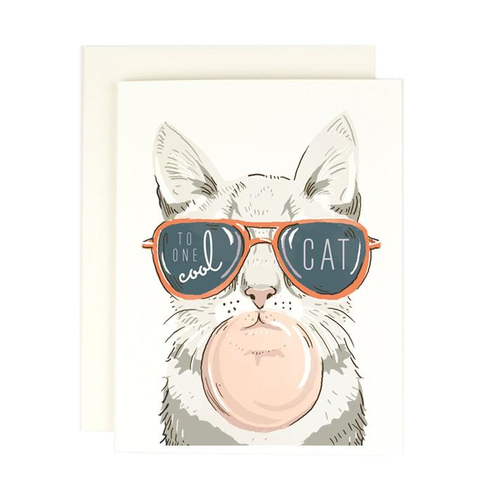 One Cool Cat Card - All She Wrote